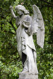 Angel with hand raised and bible Stock Images
