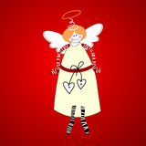 Angel-of-happiness. Angel. Symbol of happiness and love. Vector Royalty Free Stock Photography