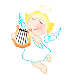 Angel with harp Stock Images