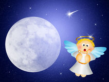 Angel with harp Royalty Free Stock Photo