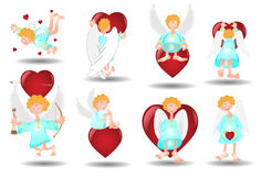 Angel heart. There are angels with hearts Royalty Free Stock Image