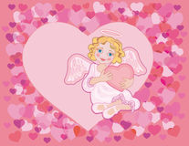 Angel with a heart Royalty Free Stock Photo