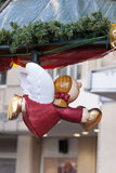 Angel with Heart. Flying angel holding heart at christmas market in Germany royalty free stock images