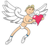 Angel with a Heart Royalty Free Stock Photography