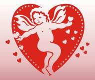 Angel in heart Royalty Free Stock Photography