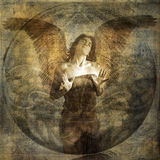 Angel Heart. Angel with open hearted gesture. Photo based illustration Stock Image
