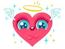 Angel Heart avec des ailes Photographie stock libre de droits