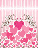 Angel Heart Background. An illustration of angels on a heart background for Valentine's Day Stock Photography