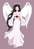 Angel with heart Royalty Free Stock Photos