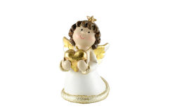 Angel with heart Stock Images