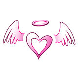 Angel Heart et ailes Photos libres de droits