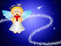 Angel with heart Royalty Free Stock Images