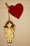 Angel with heart Royalty Free Stock Image