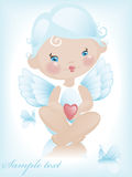 Angel with hearts 2. Royalty Free Stock Photography