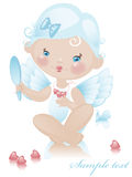 Angel with hearts 3. Royalty Free Stock Images