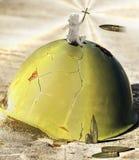 Angel on a helmet Stock Image