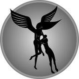 Angel Helping Man royalty-vrije illustratie