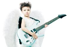 Angel with his guitar Royalty Free Stock Images
