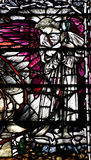 Angel holding a cup-2. Stained glass window of an angel royalty free stock images