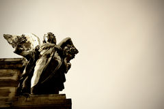 Angel holding an olive twig; Niederwalddenkmal Stock Photo