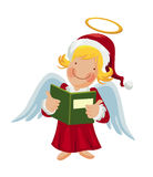 Angel holding a songbook. Cartoon angel holding a songbook Stock Photo