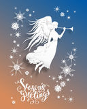 Angel Holiday Card illustration stock