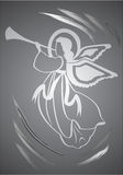 Angel, holy figure. Vector, illustration Royalty Free Stock Photo