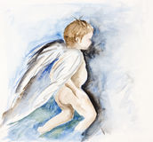 Angel - human child Royalty Free Stock Photo