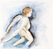 Angel - human child Royalty Free Stock Photo