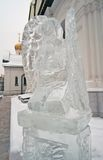 Angel ice figure in Zachatievsky monastery in Moscow. Stock Image