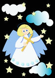 Angel illustration. On black background Royalty Free Stock Photos