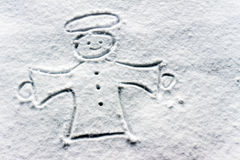 Free Angel In The Snow Stock Photography - 40013412