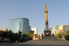 Angel of Independence II. The Angel of Independence (victory column) in Mexico City Stock Photography