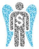 Angel Investor Collage do dólar ilustração do vetor