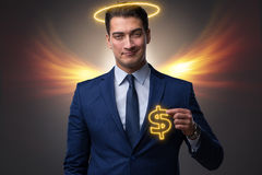 The angel investor concept with businessman with wings Stock Image