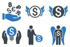 Angel Investor Flat Vetora Icons ilustração royalty free