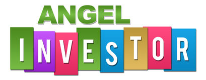 Angel Investor Professional Colorful. Angel investor text alphabets written over colorful background Royalty Free Stock Photo