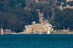 Angel Island. Viewed from Sausalito, San Francisco Bay, California Stock Photo