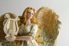 angel isolated white Στοκ φωτογραφία με δικαίωμα ελεύθερης χρήσης