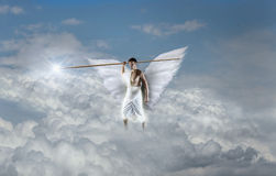 Angel with Javelin Royalty Free Stock Photography