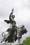 Angel of Justice - one of Victoria Memorial statue. S, London, UK Royalty Free Stock Photos
