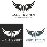 Angel Knight. Logo suitable for businesses and product names. Easy to edit, change size, color and text Stock Image