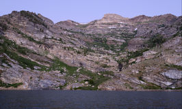Angel Lake and Greys Peak. In the Ruby Mountains of Nevada Stock Photography