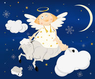 Angel on a lamb Royalty Free Stock Photos