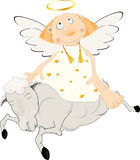 Angel on a lamb Royalty Free Stock Photography