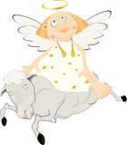 Angel on a lamb