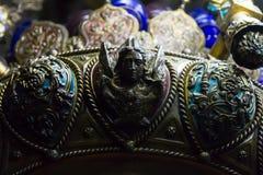 Angel Lamp à l'intérieur de la tombe de Vierge Marie, Jérusalem Photographie stock libre de droits