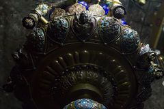 Angel Lamp à l'intérieur de la tombe de Vierge Marie, Jérusalem Image libre de droits