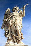 Angel with the Lance. On Ponte Sant'Angelo, Rome, Italy Royalty Free Stock Photos