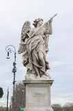 Angel with the Lance. Is a statue on the Ponte Sant'Angelo in Rome, Italy. Ponte Sant'Angelo is a bridge in front of the Castel Sant'Angelo Royalty Free Stock Photo